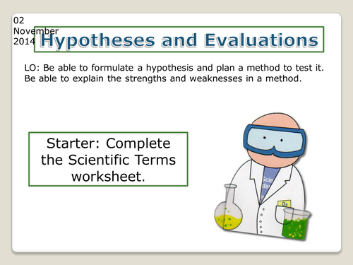 Edexcel Controlled Assessment Write a Hypothesis by – Writing a Hypothesis Worksheet
