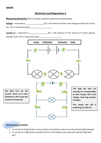 Electricity and Magnetism Unit   Teaching Resources