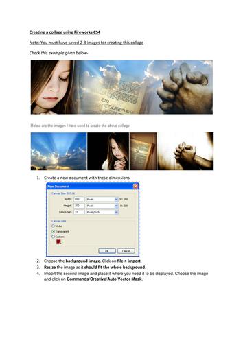 Fireworks CS4 - Collage, Pop-up menu, SLIDESHOW