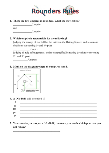 The rules of rounders incl differentiated w/sheet