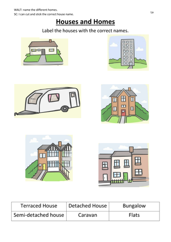 Houses and homes labelling by rodders33 teaching for Pictures of different types of houses and their names