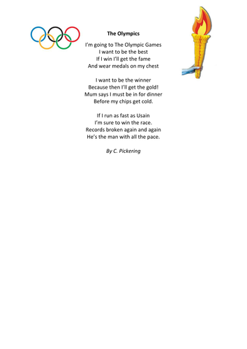Olympic Poem With Alternate Rhyming Structure By Chris P 7