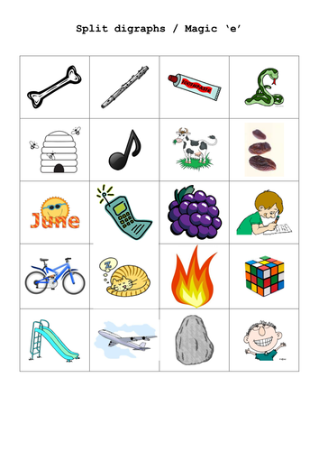 Split digraph or magic e by renosparks - Teaching Resources - TES