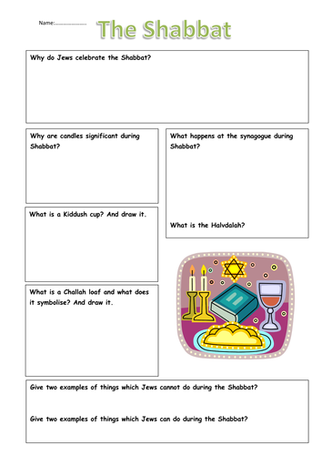 Ks3 Judaism The Shabbat By Erica10 Teaching Resources Tes