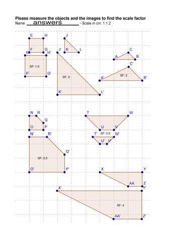 Enlargement - Find the Scale Factor by slckbsk - Teaching Resources ...