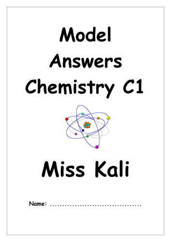 AQA Chemistry C1 Model Answer Booklet