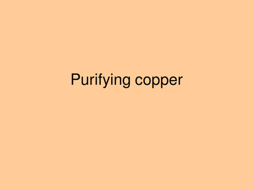 Purifying copper