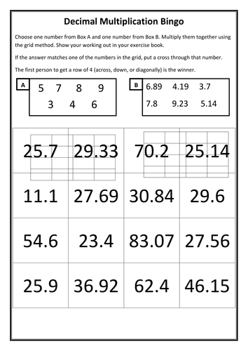 Multiplying and Dividing Decimals Worksheet and Challenge by ...