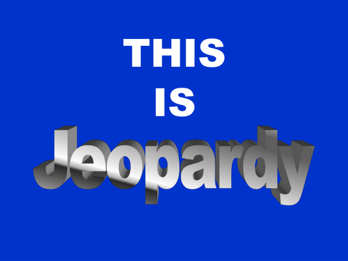 Mathematics Jeopardy Year 7 Easy General Revision by