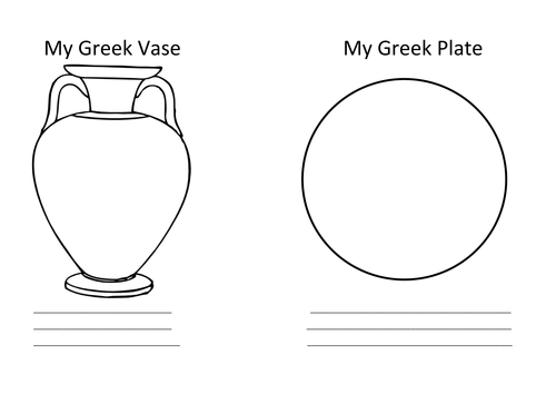 A Greek Vase And Plate Template By Sthompson1402 Teaching