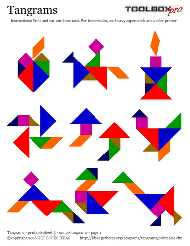 Tangram Investigation - Video and Worksheets