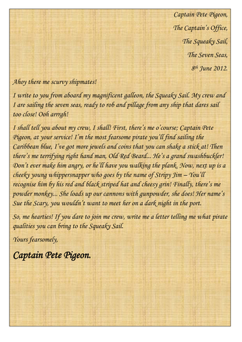 A letter from a pirate!