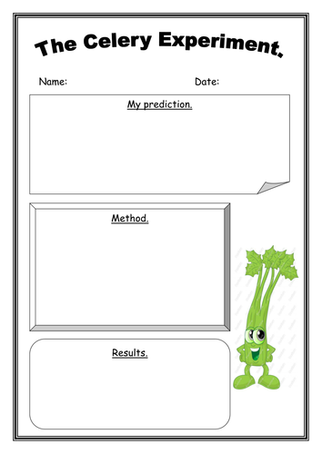 Handy image within celery experiment printable worksheet