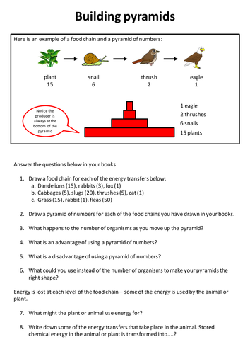Pyramids of number - worksheet & writing frame by neanderthalchick ...