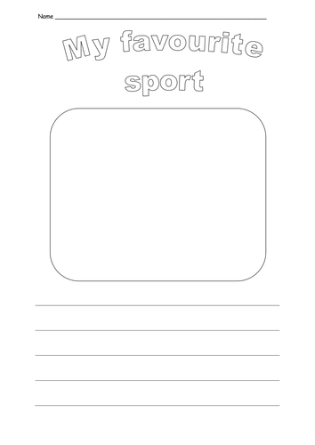 my favourite sport essay my favourite sport