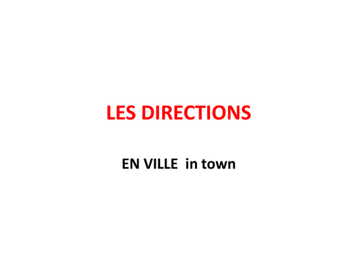 directions in French - les directions