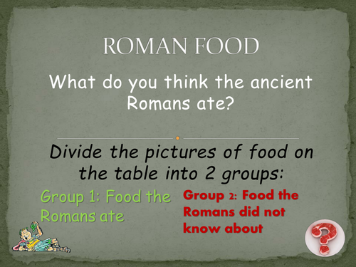 Ancient roman food and drink by cgallop teaching for Roman menu template