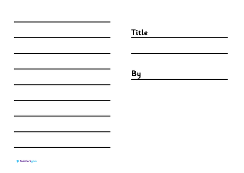 Book template by star17 Teaching Resources TES – Small Book Template