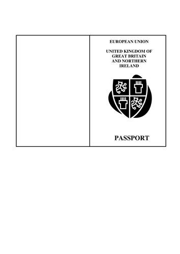 Passport template by silviabell teaching resources tes for Passport picture template