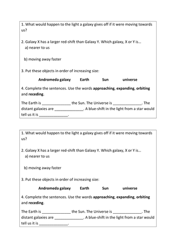 Equation /Formula Sheets for AQA Combined Science GCSE and Physics ...
