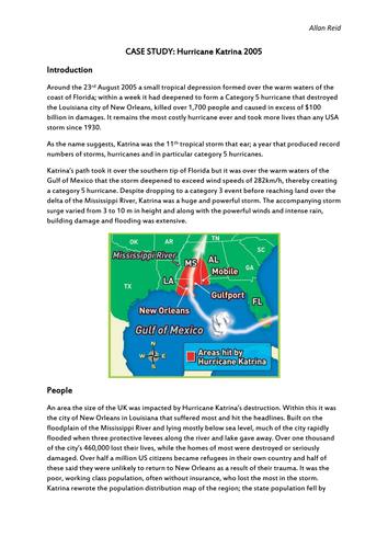 Hurricane Katrina - Case Study