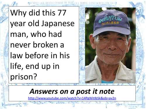 Japan- ageing populations and elderly crime