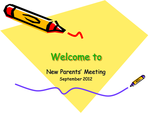 New Parents Presentation - EYFS 2012