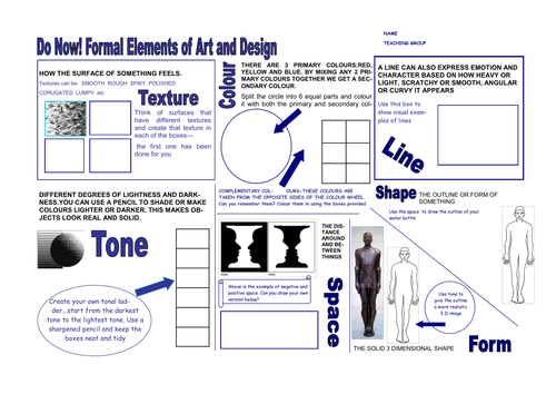 7 Elements Of Art And Their Definitions : Formal elements of art and design by rhodafis teaching