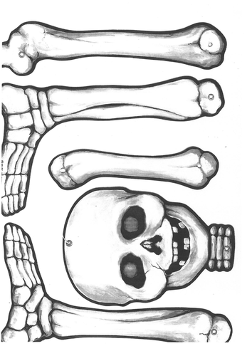 skeleton images of bones to cut and make by basketballgirl