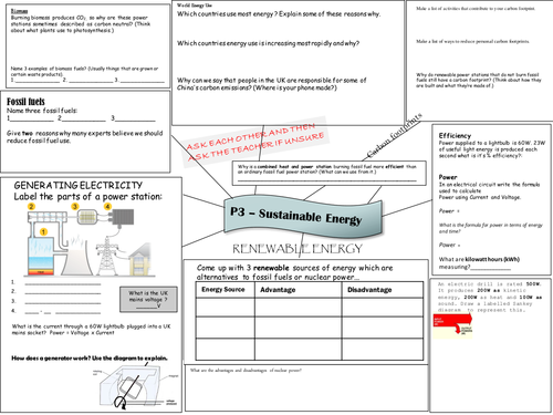 OCR 21st Century P3 Energy Resouces Revision A3