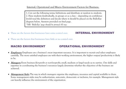 internal influences definition
