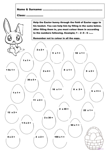 easter maths activities by johdu uk teaching resources tes. Black Bedroom Furniture Sets. Home Design Ideas