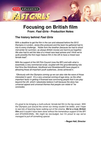 FAST GIRLS: Teaching Resources