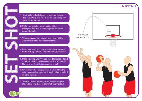Basketball Reciprocal Set Shot Worksheet By