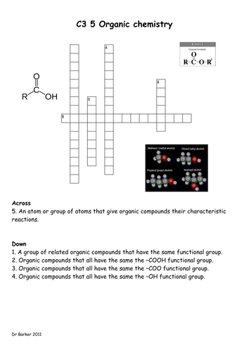 AQA C3 new spec crosswords