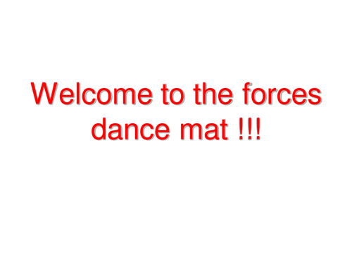 Forces Dance Mat ! ( Active Learning!)
