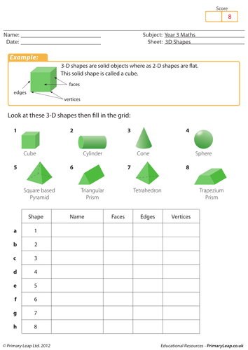 identifying 3d shapes by loulabell86 teaching resources tes. Black Bedroom Furniture Sets. Home Design Ideas
