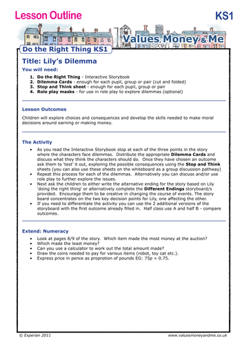 Do The Right Thing - Lesson 1: Lily's Dilemmas by Experian