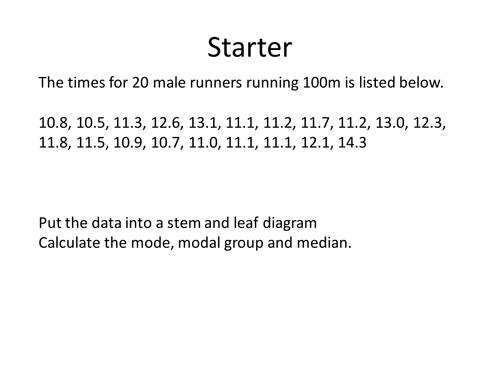 Backtoback Stem and Leaf Diagrams by dannytheref Teaching – Stem and Leaf Plot Worksheets