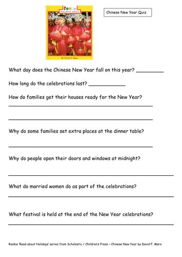chinese new year quiz comprehension by downside teaching resources. Black Bedroom Furniture Sets. Home Design Ideas
