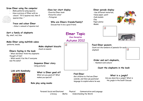 Elmer Topic Ideas For Reception