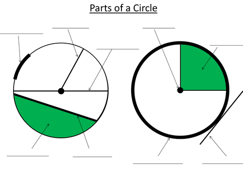 Knowing The Parts Of A Circle Exercise By Dannytheref Teaching