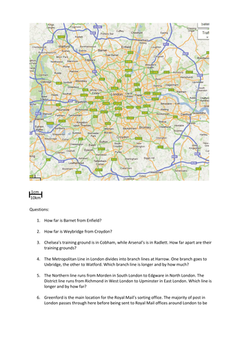 Scale Drawing And Maps By Dannytheref Teaching Resources