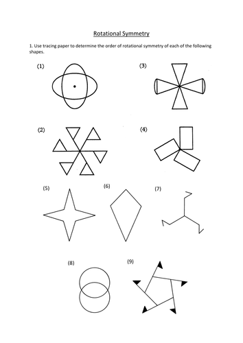 Rotational Symmetry worksheet by dannytheref | Teaching Resources
