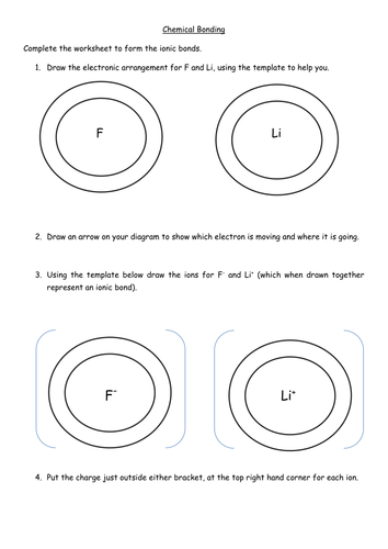 Ionic bonding worksheet by Miss Patel - Teaching Resources - Tes