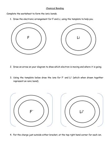 Ionic Bonding Worksheet By Jechr Teaching Resources Tes