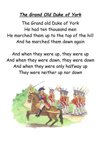 27 common nursery rhymes A4 posters