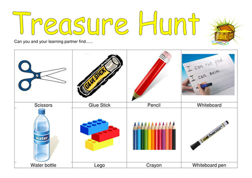 First day treasure hunt