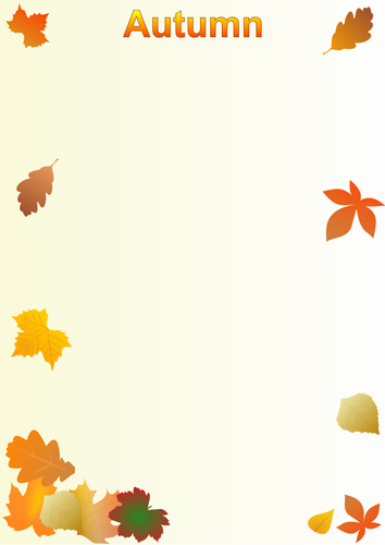 Autumn themed writing paper