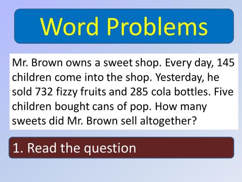 help me solve word problems